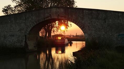 Lever de soleil Canal du Midi