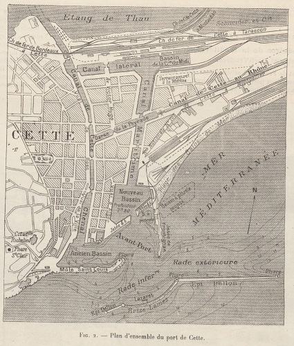 ancien plan de la ville de Cette